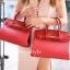 พร้อมส่ง กระเป๋าสะพายข้างผู้หญิง Birkin PU 25 cm [สีแดง ] thumbnail 1