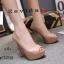 พร้อมส่ง รองเท้าคัชชูเปิดหน้า 17-2318-PNK [สีชมพู] thumbnail 1