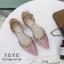 พร้อมส่ง รองเท้าคัทชูส้นแบน สไตล์Valentino G-1169-PNK [สีชมพู] thumbnail 3