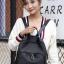 พร้อมส่ง กระเป๋าเป้ผู้หญิงผ้าไนล่อน- BAG-009 [สีดำ] thumbnail 4