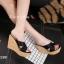พร้อมส่ง รองเท้าสไตล์สวมส้นเตารีด 17-2288C5-BLK [สีดำ] thumbnail 3