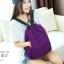 พร้อมส่ง กระเป๋าเป้ผ้าไนล่อน-BAG-012 [สีม่วง] thumbnail 3
