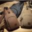 พร้อมส่ง กระเป๋าคาดอกผู้ชายผ้าแคนวาส-BAG-020 [สีน้ำตาล] thumbnail 2