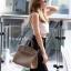 พร้อมส่ง กระเป๋าสะพายข้างผู้หญิง BK super 30 cm [สีกากี] thumbnail 2