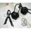 กระเป๋าถือ แฟชั่นนำเข้าสไตล์สุดหวาน AXI-A12360-BLK (สีดำ) thumbnail 2