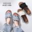 พร้อมส่ง รองเท้าแตะผู้หญิง หน้าขยัก G-1023-BLK [สีดำ] thumbnail 4