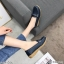 พร้อมส่ง รองเท้าคัทชูส้นเตี้ย N0119D4-NAVY [สีกรม] thumbnail 2