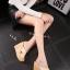 พร้อมส่ง รองเท้าส้นเตารีด สไตล์เกาหลี 17-2288-CRM [สีครีม] thumbnail 3