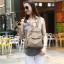 พร้อมส่ง กระเป๋าเป้ผ้าไนล่อนผู้หญิง-BAG-008 [สีแทน] thumbnail 3
