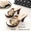 พร้อมส่ง รองเท้าส้นสูงหน้าสาน 7715-12-บรอนซ์ [สีบรอนซ์] thumbnail 2