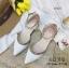 พร้อมส่ง รองเท้าคัทชูส้นแบน สไตล์Valentino G-1169-WHI [สีขาว] thumbnail 3