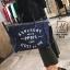 พร้อมส่ง กระเป๋าแฟชั่นนำเข้าทรง shopping bag สุดเก๋ส์ [สีน้ำเงิน] thumbnail 4