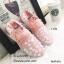 พร้อมส่ง รองเท้าผ้าใบยางยืด คาดดอกไม้ 1-178-ชมพู [สีชมพู] thumbnail 1