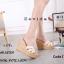 พร้อมส่ง รองเท้าส้นเตารีด สไตล์แบรนด์ดัง 17-2285-ครีม [สีครีม] thumbnail 2