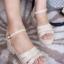 พร้อมส่ง รองเท้าส้นเตารีดแฟชั่น H1695-APR [สีแอปริคอท] thumbnail 1
