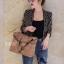 พร้อมส่ง กระเป๋าสะพายข้างผู้หญิง Working bag [สีน้ำตาล] thumbnail 1