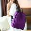 พร้อมส่ง กระเป๋าเป้ผ้าไนล่อน-BAG-012 [สีม่วง] thumbnail 4