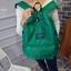 พร้อมส่ง กระเป๋าเป้ผู้หญิงผ้าไนล่อนสีสดใส-BAG-014 [สีเขียว] thumbnail 3