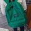 พร้อมส่ง กระเป๋าเป้ผู้หญิงผ้าไนล่อนสีสดใส-BAG-014 [สีเขียว] thumbnail 2