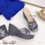 พร้อมส่ง รองเท้าส้นเตารีดแบบสวม 8980-15-GRA [สีเทา] thumbnail 3