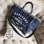 พร้อมส่ง กระเป๋าแฟชั่นนำเข้าทรง shopping bag สุดเก๋ส์ [สีน้ำเงิน] thumbnail 2