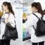 พร้อมส่ง กระเป๋าเป้ผู้หญิงหนัง pu -BAG-024 [สีดำ] thumbnail 4