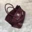 พร้อมส่ง กระเป๋าสะพายข้างผู้หญิง Birkin Pu 30 cm หนังยับ [สีแดง ]