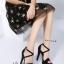พร้อมส่ง รองเท้าส้นสูงรัดข้อ สไตล์เกาหลี 17-8237D5-BLK [สีดำ] thumbnail 4