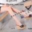 พร้อมส่ง รองเท้าส้นเตารีด สไตล์แบรนด์ดัง 17-2285-ดำ [สีดำ] thumbnail 2