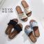 พร้อมส่ง รองเท้าแตะผู้หญิง หน้าขยัก G-1023-BLK [สีดำ] thumbnail 5