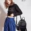 พร้อมส่ง กระเป๋าเป้ไนล่อน-BAG-017 [สีดำ/เหลือง] thumbnail 5