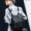 พร้อมส่ง กระเป๋าเป้หนังปักหมุด-BAG-026 [สีดำ] thumbnail 5