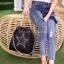 พร้อมส่ง กระเป๋าสะพายข้างผู้หญิง SL style ลายดาว [สีดำ] thumbnail 2