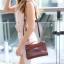 พร้อมส่ง กระเป๋าสะพายข้างผู้หญิง Mini Kelly Crocodile [สีช็อกโกแลต] thumbnail 3