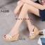พร้อมส่ง รองเท้าสไตล์สวมส้นเตารีด 17-2285C4-CREAM [สีครีม] thumbnail 4