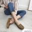พร้อมส่ง รองเท้าคัทชูส้นเตี้ย N0119D4-BWN [สีน้ำตาล] thumbnail 1