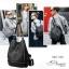 พร้อมส่ง กระเป๋าเป้หนังปักหมุด-BAG-026 [สีดำ] thumbnail 3