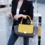 พร้อมส่ง กระเป๋าสะพายข้างหนังแท้ Big Days bag [สีเหลือง]