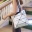 กระเป๋าสะพายแฟชั่น กระเป๋าสะพายข้างผู้หญิง pyramid [สีขาว] thumbnail 3
