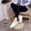 พร้อมส่ง รองเท้าผ้าใบหนังอย่างดี F58G1-WHI [สีขาว] thumbnail 3