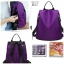 พร้อมส่ง กระเป๋าเป้ผ้าไนล่อน-BAG-012 [สีม่วง] thumbnail 2