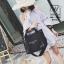พร้อมส่ง กระเป๋าผ้าแคนวาสนำเข้าดีไซน์สวยสไตล์แบรนด์ดัง [สีดำ]