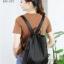 พร้อมส่ง กระเป๋าเป้เซ็ทสามใบผ้าไนล่อน-BAG-023 [สีดำ] thumbnail 3