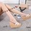 พร้อมส่ง รองเท้าส้นเตารีด สไตล์เกาหลี zevida 17-2285-CRM [สีครีม] thumbnail 1