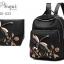 พร้อมส่ง กระเป๋าเป้ผ้าปักลาย-BAG-022 [สีดำ] thumbnail 2