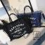 พร้อมส่ง กระเป๋าแฟชั่นนำเข้าทรง shopping bag สุดเก๋ส์ [สีน้ำเงิน] thumbnail 5