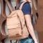 พร้อมส่ง กระเป๋าเป้ผู้ชายผ้าแคนวาส-BAG-016 [สีน้ำตาล] thumbnail 2