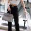 พร้อมส่ง กระเป๋าสะพายข้างผู้หญิง BK super 25 cm [สีเทา ] thumbnail 2