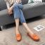 พร้อมส่ง รองเท้าคัทชูส้นเตี้ย N0119D4-ORA [สีส้ม] thumbnail 2