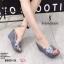 พร้อมส่ง รองเท้าส้นเตารีดแบบสวม 8980-15-GRA [สีเทา] thumbnail 1